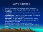cave sections