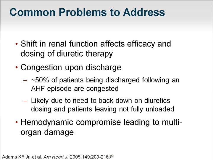 Common Problems to Address