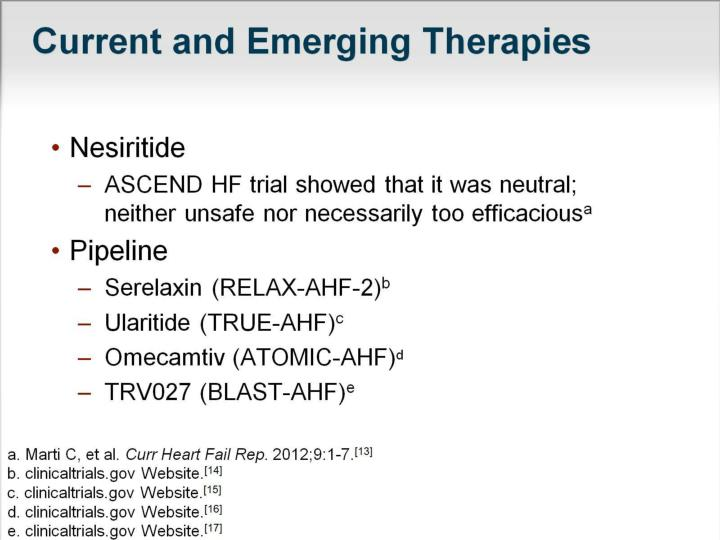 Current and Emerging Therapies