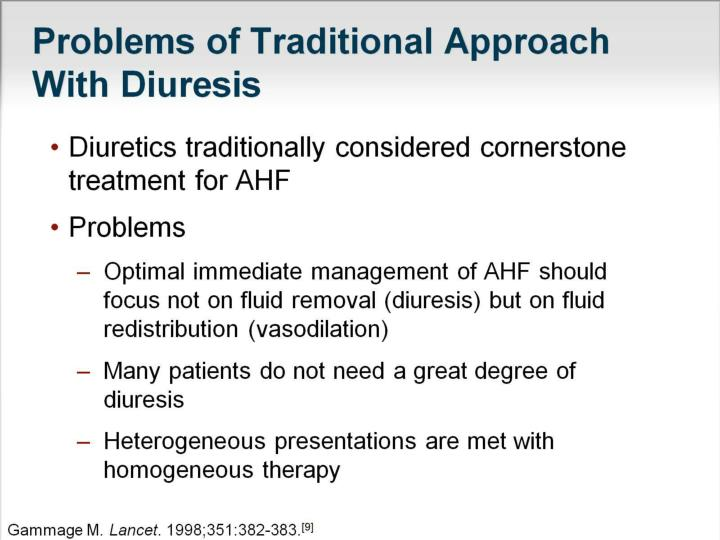 Problems of Traditional Approach With Diuresis