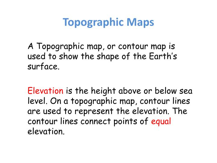 Ppt Topographic Maps Powerpoint Presentation Id 6830390