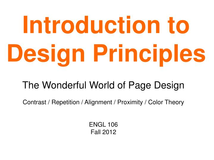introduction to design principles n.