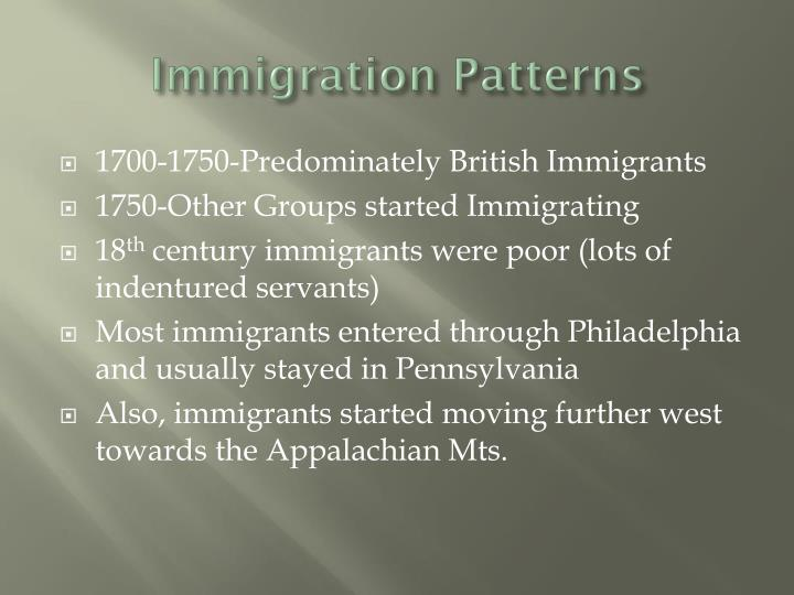 Immigration Patterns