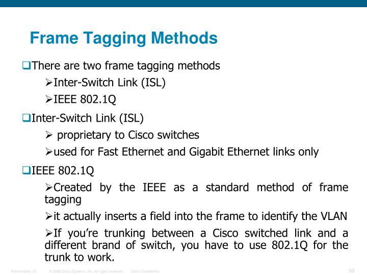 Frame Tagging Methods