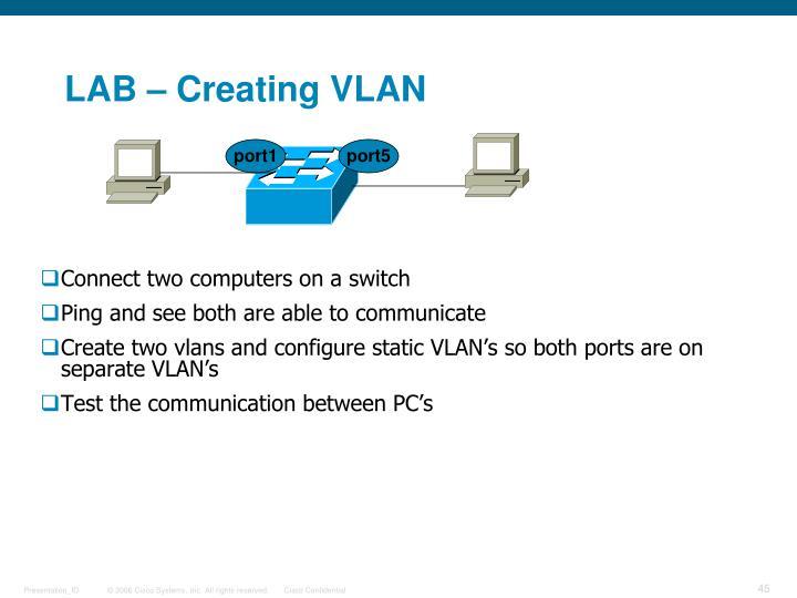 LAB – Creating VLAN