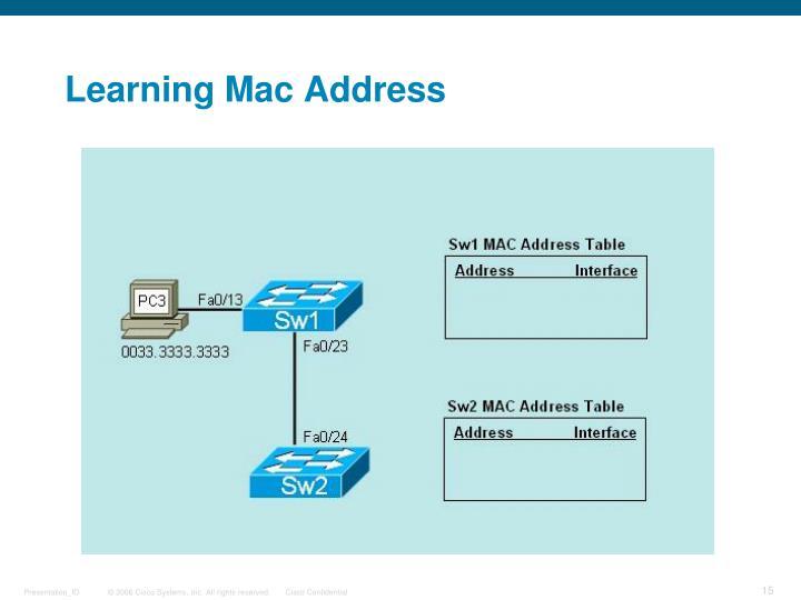 Learning Mac Address