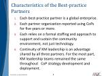 characteristics of the best practice partners