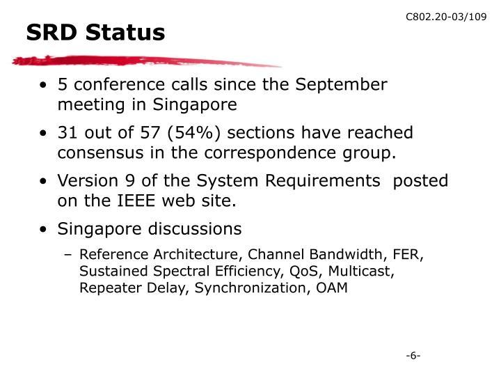 SRD Status