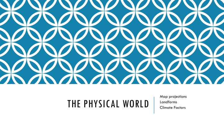 the physical world n.