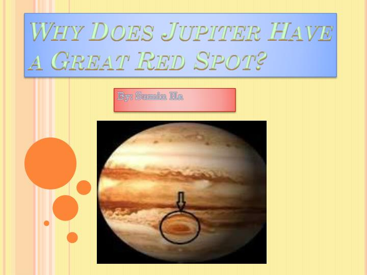 why does jupiter have a great red spot