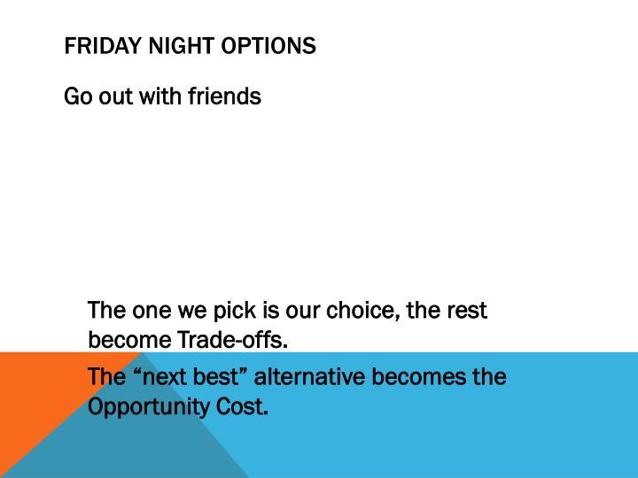 FRIDAY NIGHT OPTIONS