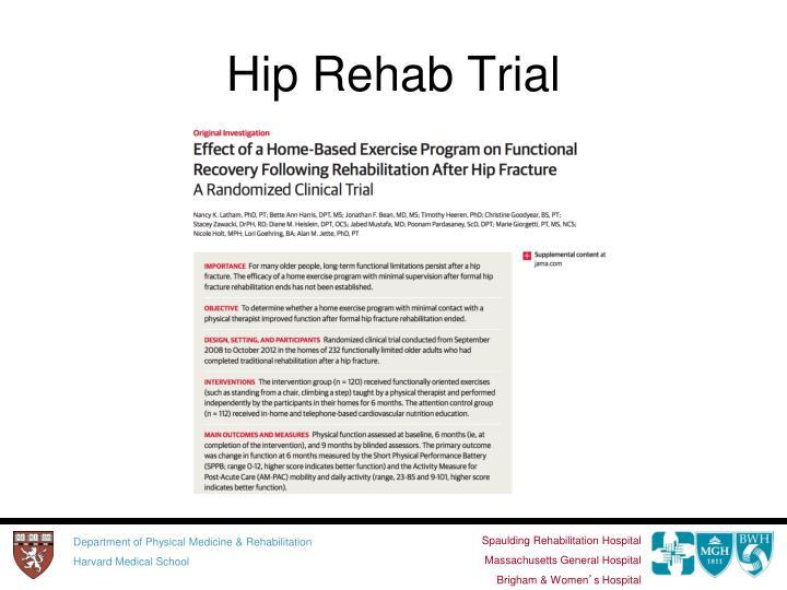 Hip Rehab Trial