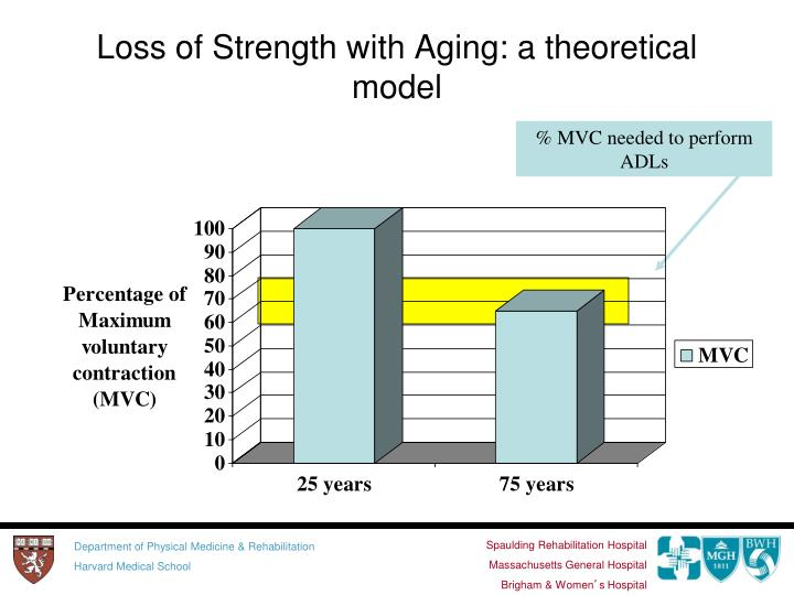 Loss of Strength with Aging: a theoretical model
