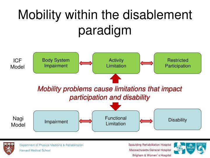 Mobility within the disablement paradigm