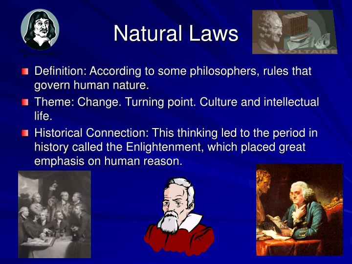 Natural Laws