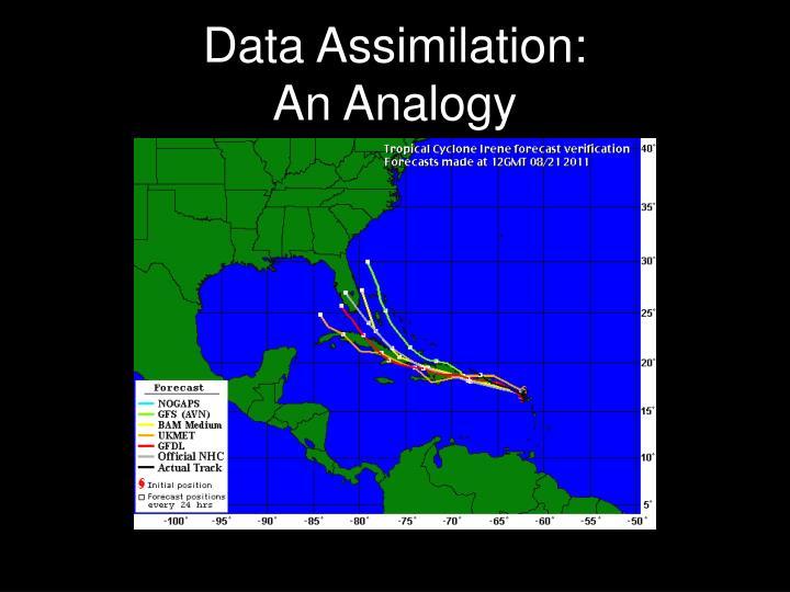 Data assimilation an analogy