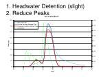 1 headwater detention slight 2 reduce peaks
