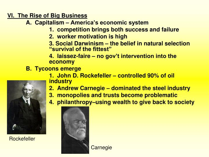 a review of andrew carnegies the rise of big business