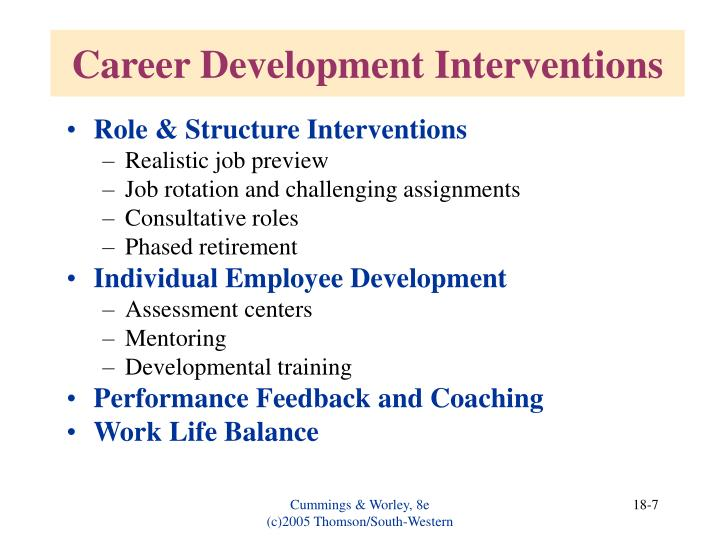 Role & Structure Interventions