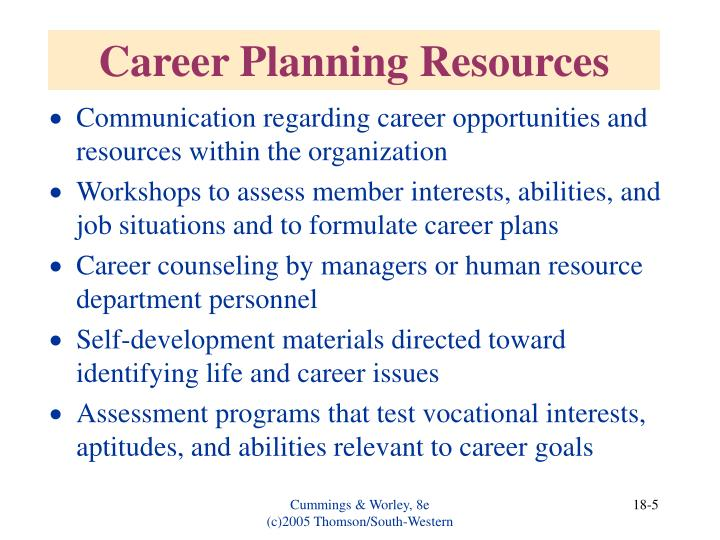 Career Planning Resources