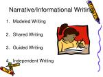 narrative informational writing