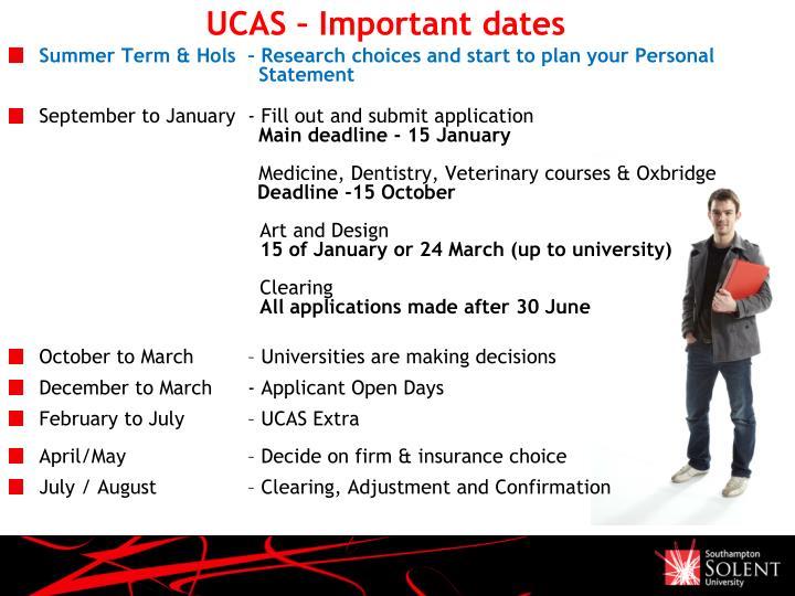 UCAS – Important dates