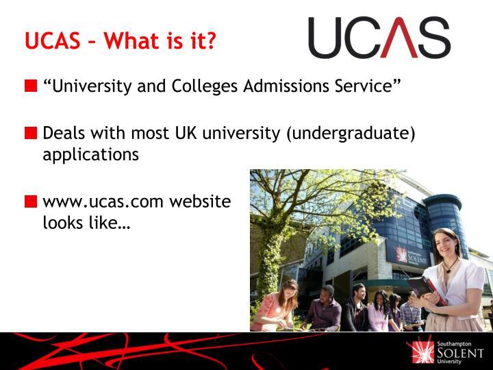 Ucas what is it