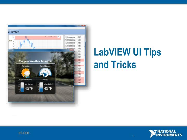 labview ui tips and tricks n.