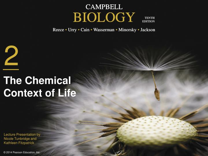 the chemical context of life n.