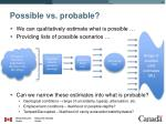 possible vs probable