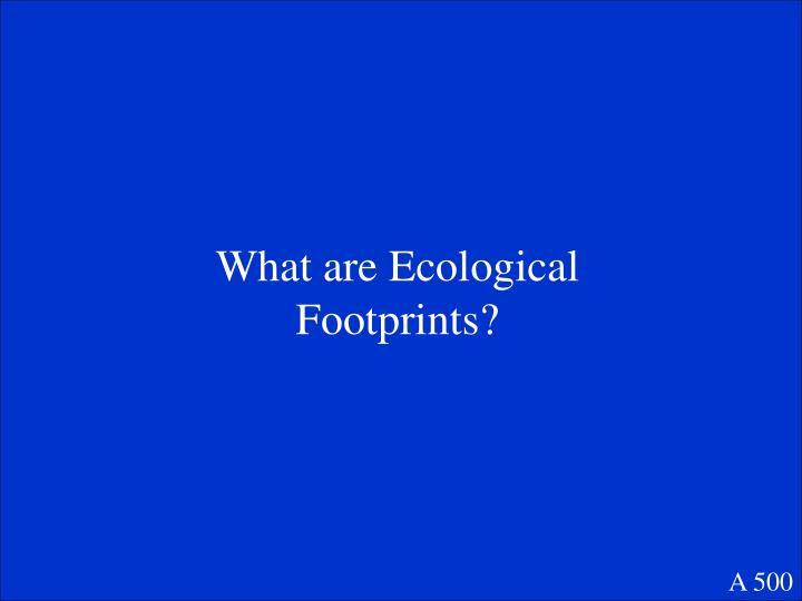 What are Ecological Footprints?