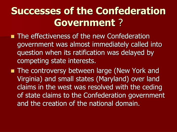 success articles confederation The articles of confederation and perpetual union, which are commonly known simply as the articles of confederation, was the first constitution of the united.
