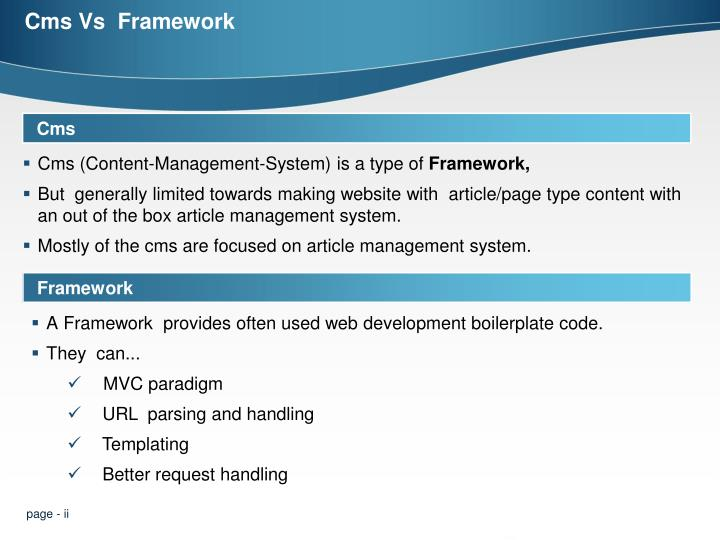 Cms vs framework