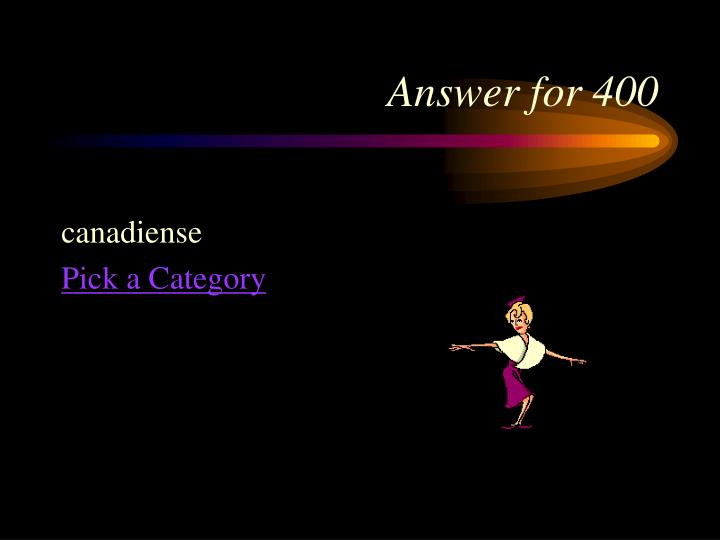 Answer for 400