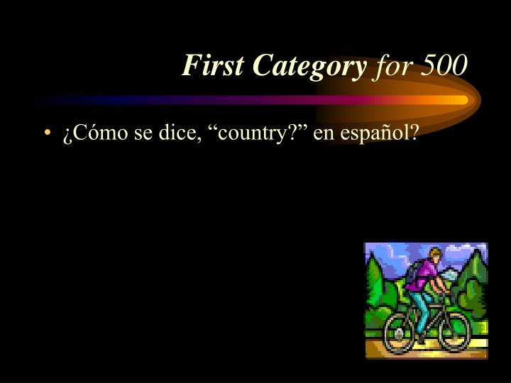 First Category