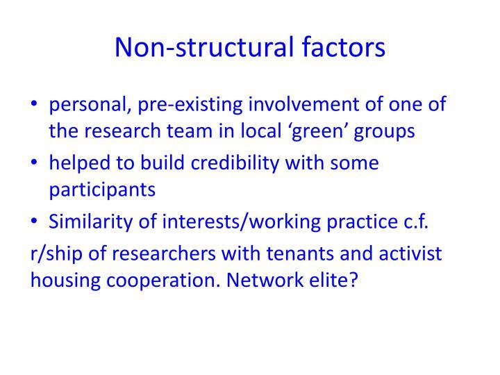 Non-structural factors