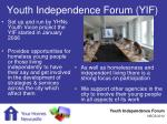 youth independence forum yif