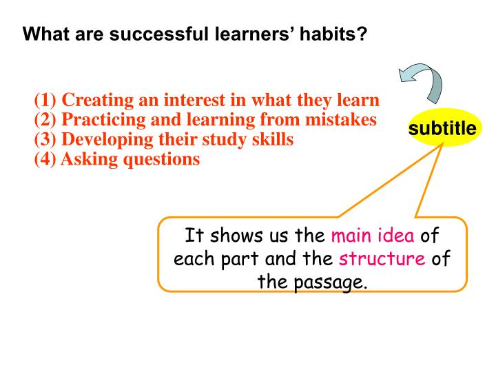 What are successful learners' habits?