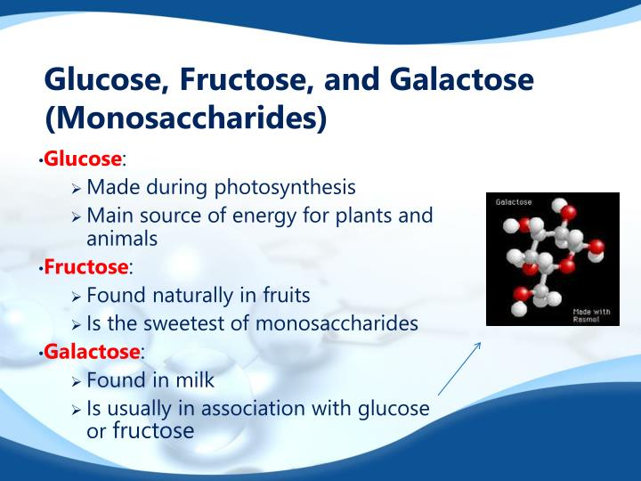 Glucose, Fructose, and