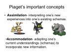 piaget s important concepts1