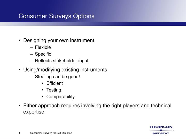 Consumer Surveys Options