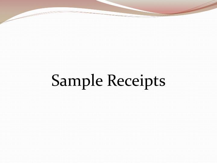 Sample Receipts