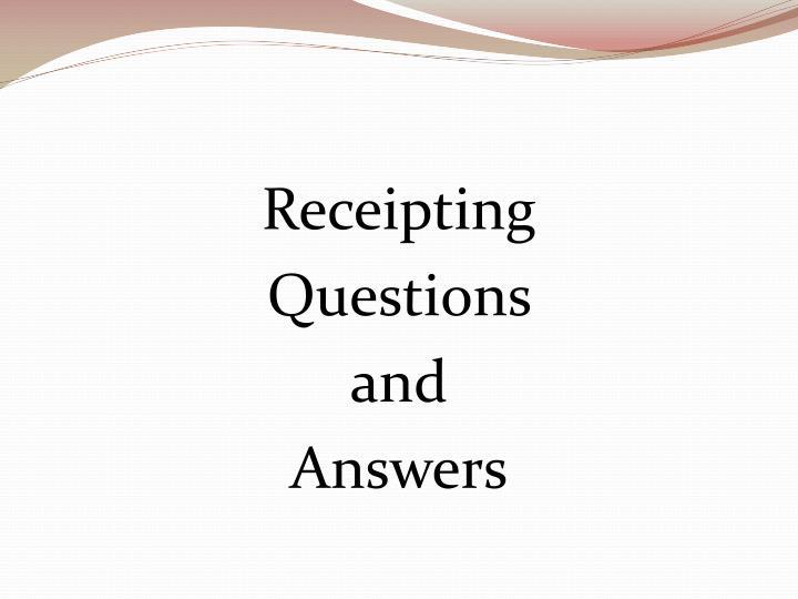 Receipting