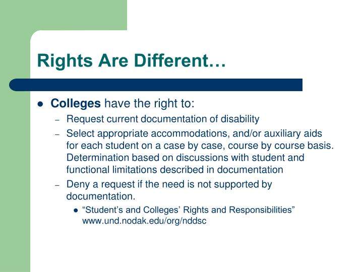 Rights Are Different…