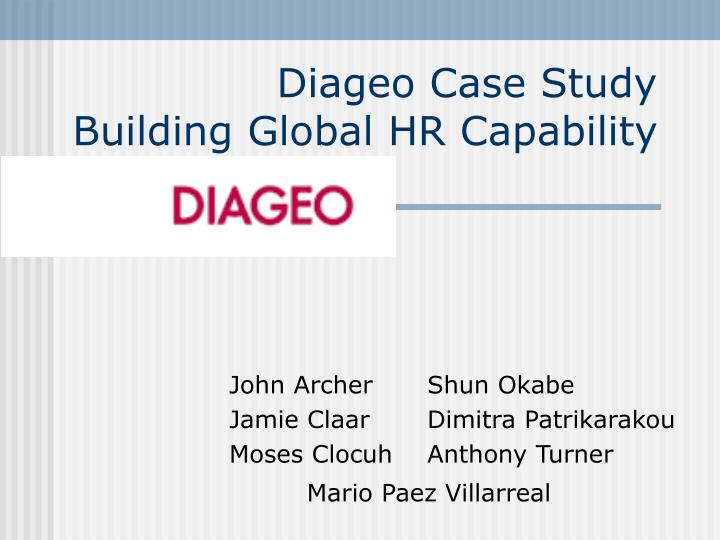 diageo case study building global hr capability n.