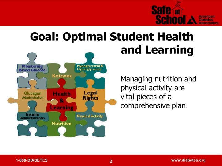 Goal optimal student health and learning