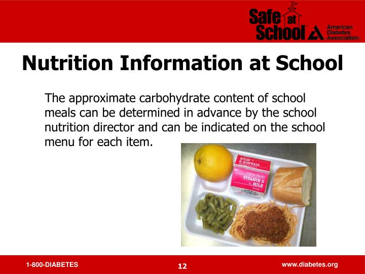 Nutrition Information at School