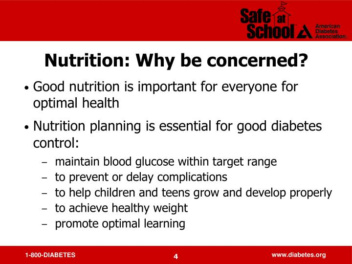 Nutrition: Why be concerned?