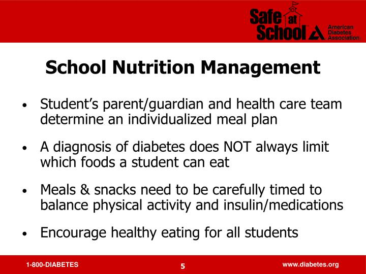 School Nutrition Management