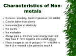 characteristics of non metals